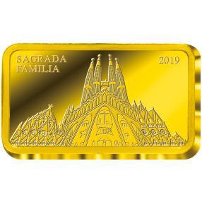 Goldbarren Sagrada Familia Barcelona 2019