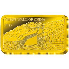 Goldbarren Chinesische Mauer 2019
