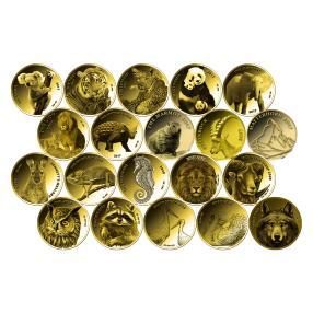 Goldinvestmentbrick-Set20 - 20 versch. Goldkl.