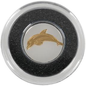Gold-Cutout-Münze Delfin