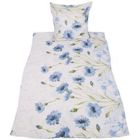 AllSeasons Bettwäsche 2tlg. blaue Blume