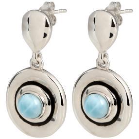 Ohrhänger 950 Silber Larimar