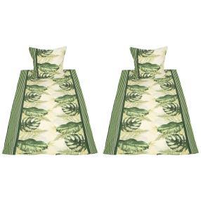 WinterDreams Bettwäsche 4tlg Tropischeblätter grün