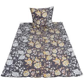 WinterDreams Bettwäsche 155x220 cm Floral schwarz