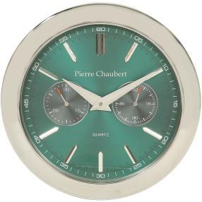 Pierre Chaubert Funkwanduhr grün-grau