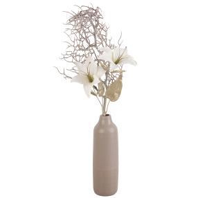 Blumenarrangement Lilie in Keramikvase