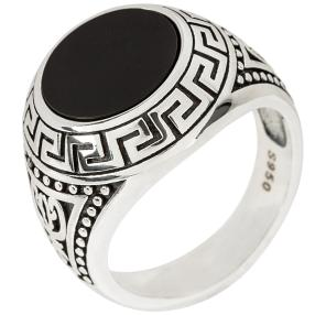 Ring 925 Sterling Silber, mit Onyx