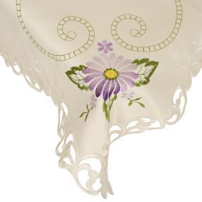 Mitteldecke Blumen lila, 85 x 85 cm
