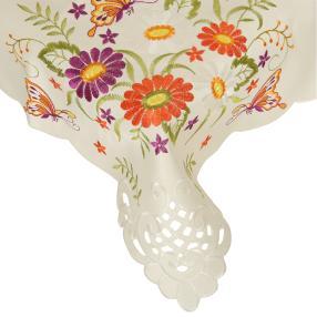Mitteldecke Blumenmix bunt, bestickt