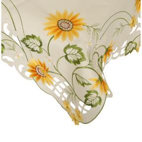 Mitteldecke Sonnenblumen, 85 x 85 cm