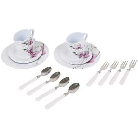 Kaffeeservice Orchidee, 20-teiliges Set