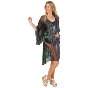 ÉTOILE DE MER  Long-Cardigan multicolor