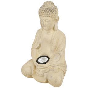 LED Deko-Buddha, sitzend