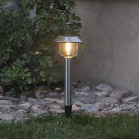 LED Solarleuchte Edelstahl