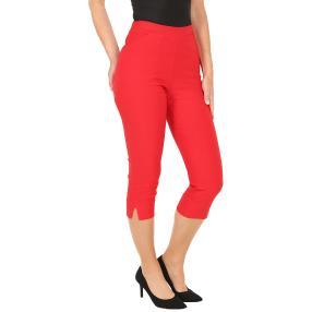 Sommerliche Damen-Caprihose, rot