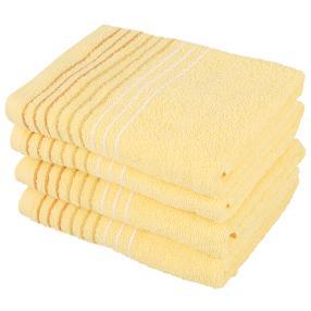 Handtuch 4tlg. Streifen gelb 50x100 cm