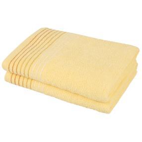 Duschtusch 2tlg. Streifen gelb 70 x 140 cm