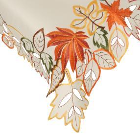 Mitteldecke Herbstblätter, bestickt