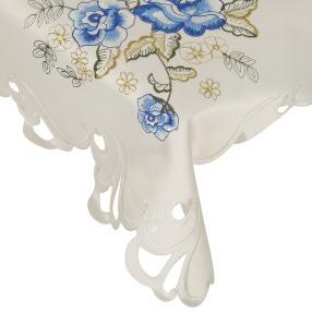 Mitteldecke blaue Rosen, 85 x 85 cm