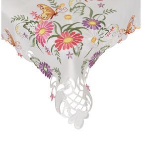 Mitteldecke Schmetterling, 85 x 85 cm, bestickt