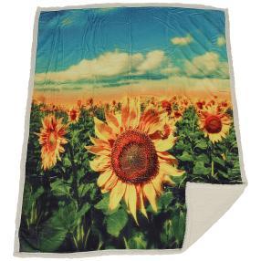 Sherpa-Decke Sonnenblumen