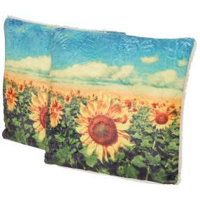 Dekokissen Sonnenblume 2er-Set 40x40cmt