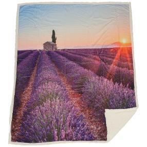 Sherpa-Decke 'Lavendelfeld'