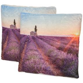 Dekokissen Lavendel 2er-Set 40x40cmt
