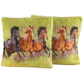Dekokissen Pferde 2er Set, 40 x 40 cm