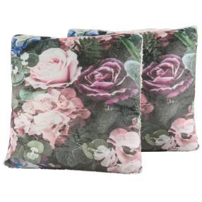 Dekokissen Blumen 2er Set, Rosendesign