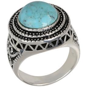 Ring 925 Sterling Silber, Türkis stabilisiert