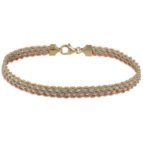 Armband 585 Gelbgold/Weißgold/Roségold
