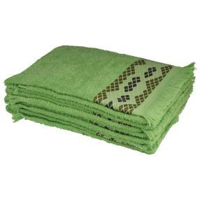 Handtuch 4tlg. Raute grün 50x100 cm