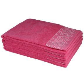 Handtuch 4-teilig, Grafik pink