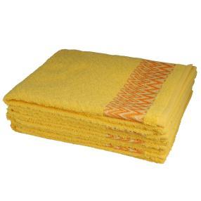 Handtuch 4-teilig, grafisch gelb