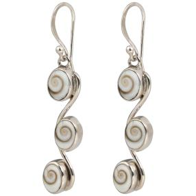 Ohrhänger Auge des Shiva 925 Sterling Silber