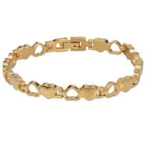 Armband Titan Herz vergoldet, ca. 19 cm
