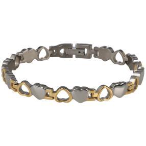 Armband Titan Herz bicolor, ca. 19cm