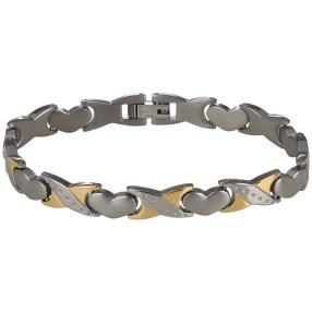 Armband Titan bicolor, ca. 19 cm