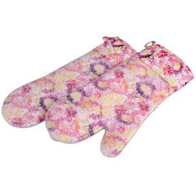 WOHNEN & GENIESSEN Silikon-Handschuhe floral 2er