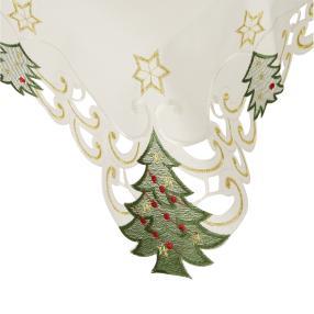 Mitteldecke Weihnachtsbäume, creme