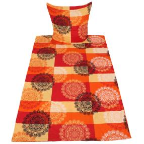 AllSeasons Bettwäsche 2-teilig, orange-rot