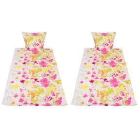 AllSeasons Bettwäsche 4-teilig, Blumen pink-gelb