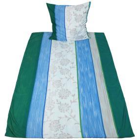 AllSeasons Bettwäsche 155 x 220 cm, grün-blau-grau