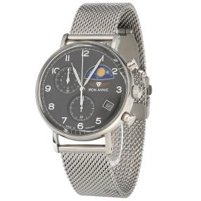 Iron Annie Herren Chrono Quarz Mondphase grau