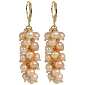 Ohrhänger 925 St.Silber vergoldet Perlen rosé