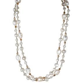 Collier Perlen+Hämatit, ca. 100cm