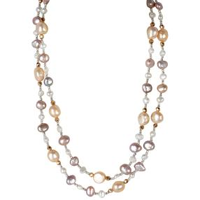 Collier Perlen rosé +Hämatit, ca. 100cm