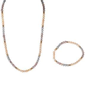 Set Collier+Armband Perlen+Hämatit