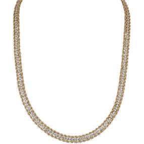 Kordel-Collier 585 Gelbgold mit Zirkonia